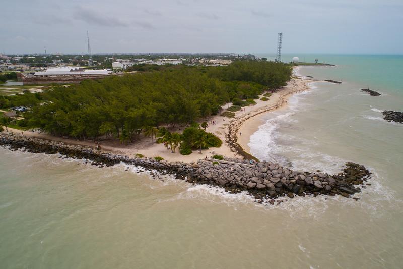 Aerial image Fort Zachary Beach Key West