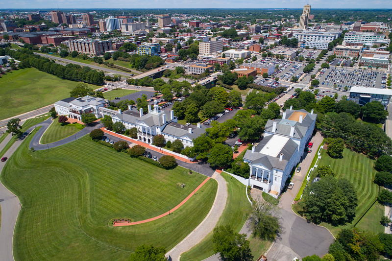Aerial image of Gambles Hill Downtown Richmond VA