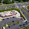 Aerial photo of a Chick-Fil-A fast food restaurant