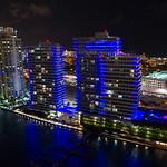 Bentley Bay Condominium at night