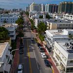 Aerial Miami Beach Collins Avenue