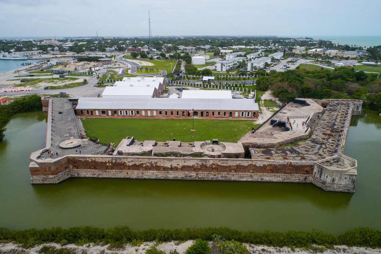 Aerial image of Fort Zachary State Park and National Marina Sanctuary