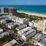 Aerial drone photo of Miami Beach FL