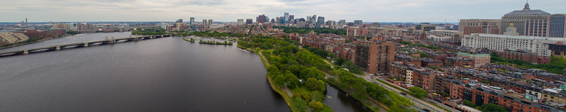 Aerial panoramic image Boston