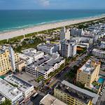 Aerial Miami Beach condominiums