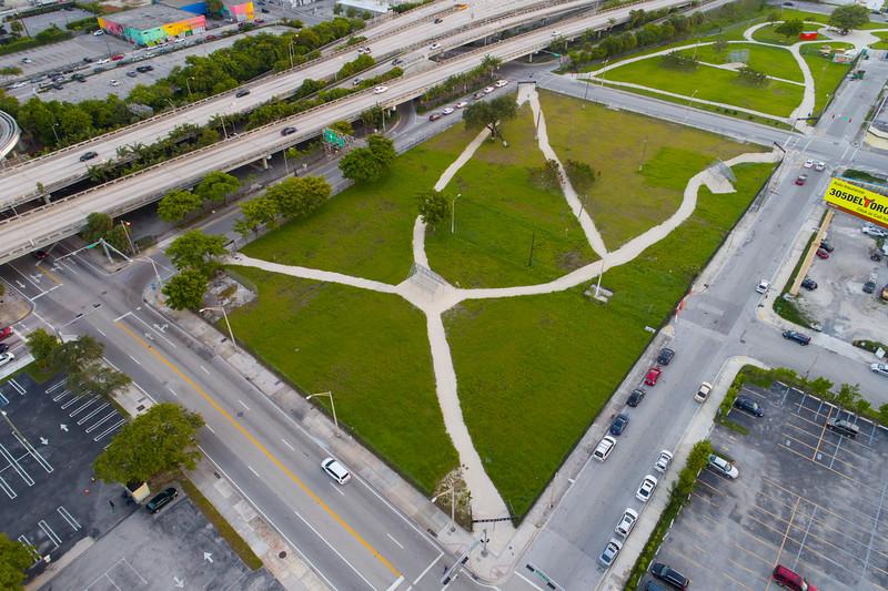 Omnipark Miami aerial photo