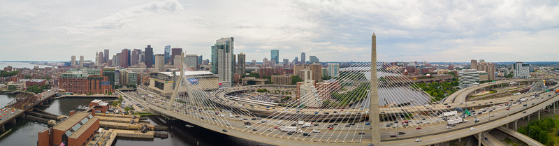 Aerial image Leonard P Zakim Bunker Hill Memorial Bridge