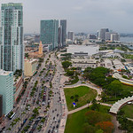 Aerial image Downtown Miami facing north