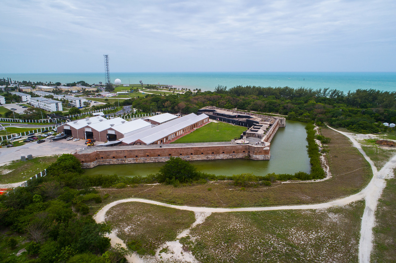Aerial image of the Fort Zachary Taylor Fortress