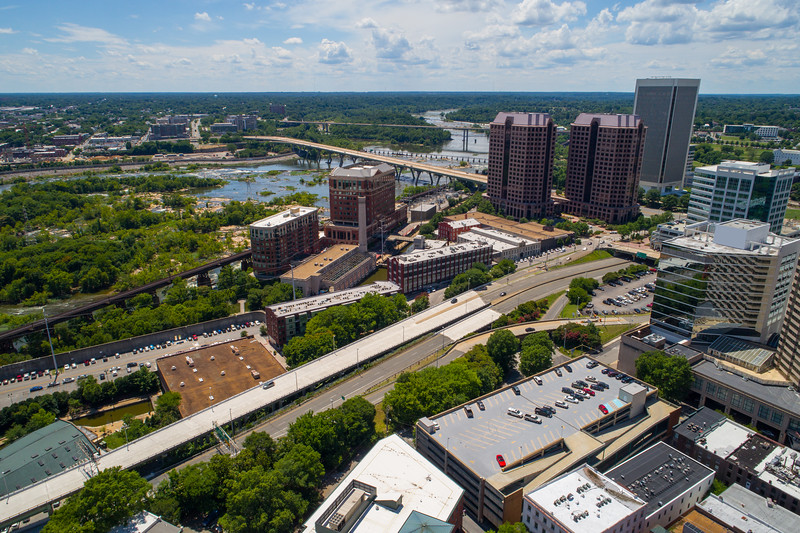 Aerial image Downtown Richmond
