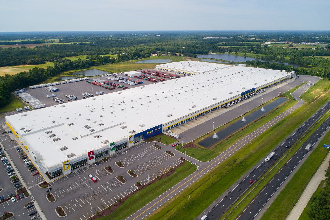 Aerial image rooms to go supercenter Dunn NC, USA