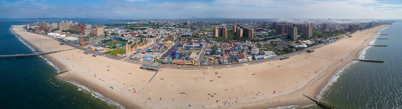 Aerial panorama Coney Island