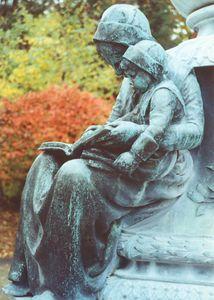 Pilgrim Mother on Robbins Memorial by Cyrus Dallin
