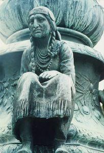 Indian Squaw on Robbins Memorial by Cyrus Dallin