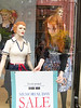 Newbury Street shop window ~ which redhead is the mannequin?