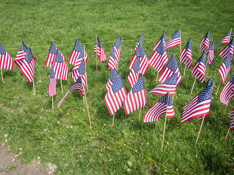 Military Heroes flag garden