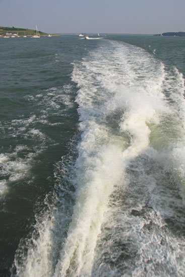 The Wake of the Harbor Island Express (Gee, I miss water skiing!)