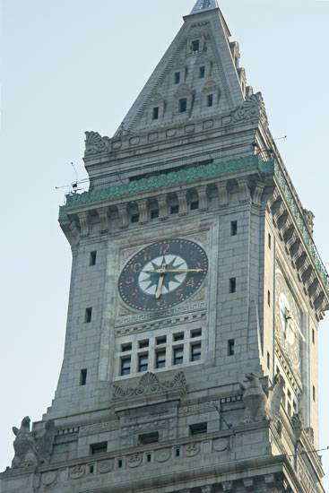 Clock Tower near Boston Harbor