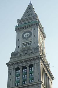 Clock Tower near Boston Harbor