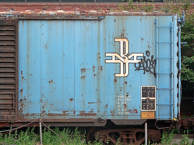 blue boxcar Charlestown Navy Yard