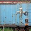 blue boxcar Charlestown Navy Yard