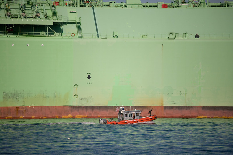 Coast Guard escort Boston Berge