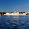 Charlestown waterfront with battleship panorama