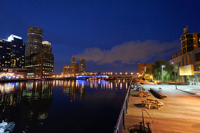 Children's Wharf at night