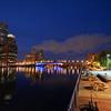 Children's Wharf at night