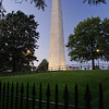 Bunker Hill Monument & fence of spears