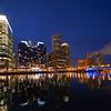 Boston from Children's Wharf at night