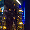 Atlantic Wharf building at night