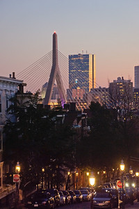 Boston & Bunker Hill Bridge from Charlestown