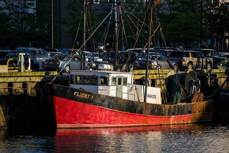Flight 1 fishing boat at Boston Fish Pier