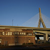 Boston & Maine Signal Tower A bldg & Bunker Hill Bridge