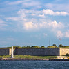 Ft Independence Castle Island from Provincetown Fast Ferry