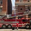 Boston Fire Ladder Truck 18 on Tufts St