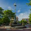 golden heron statue City Square Charlestown
