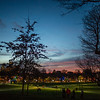 Christmas eve lights Boston Common