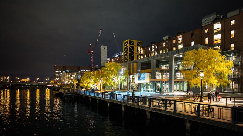 Boston Children's Museum at night