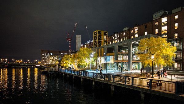 Boston Children's Museum at night