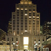New England Telephone Bldg cold winter night