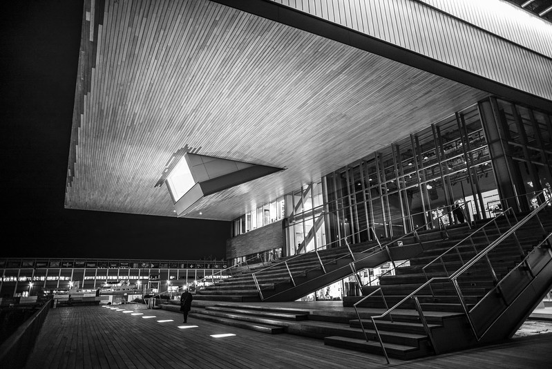 under the ICA at night
