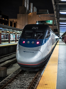 Acela locomotive South Station
