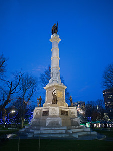 Civil War Memorial Boston Common Christmas Eve