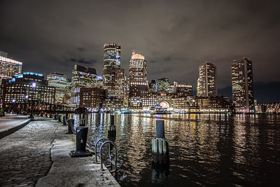 Boston from Fan Pier at night