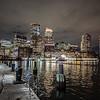 Boston from Fan Pier at night