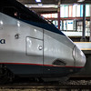 profile Acela locomotive South Station