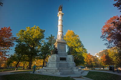 autumn Civil War Memorial Boston Common summit