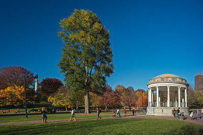 autumn colors Boston Common